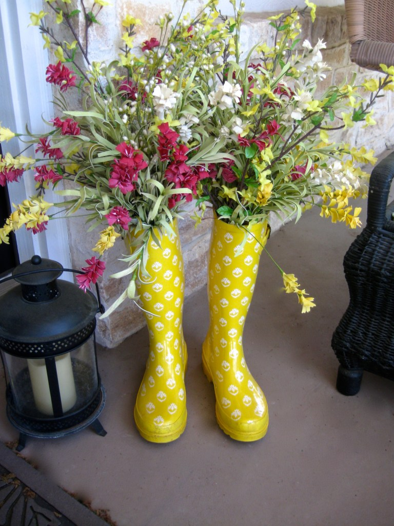 Rain Boots on the Porch