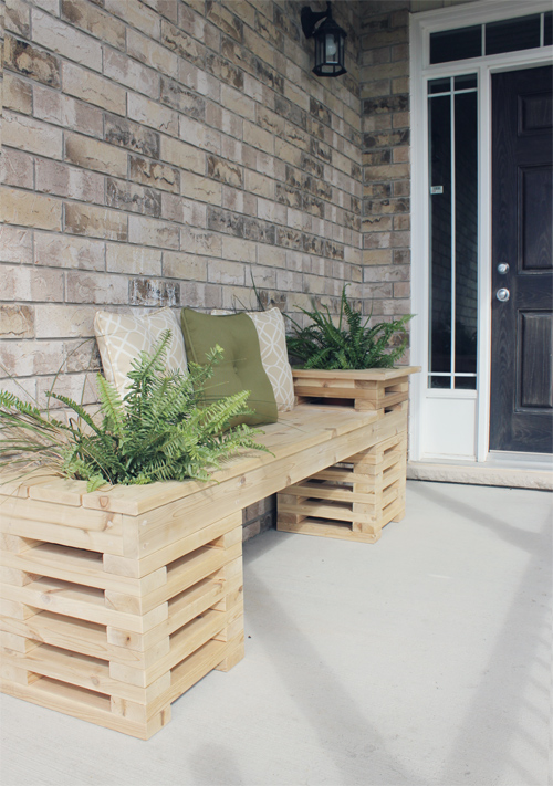 Summer DIY Porch Bench