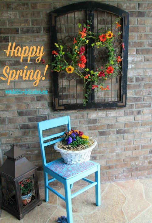Thrifty Spring Porch Makeover