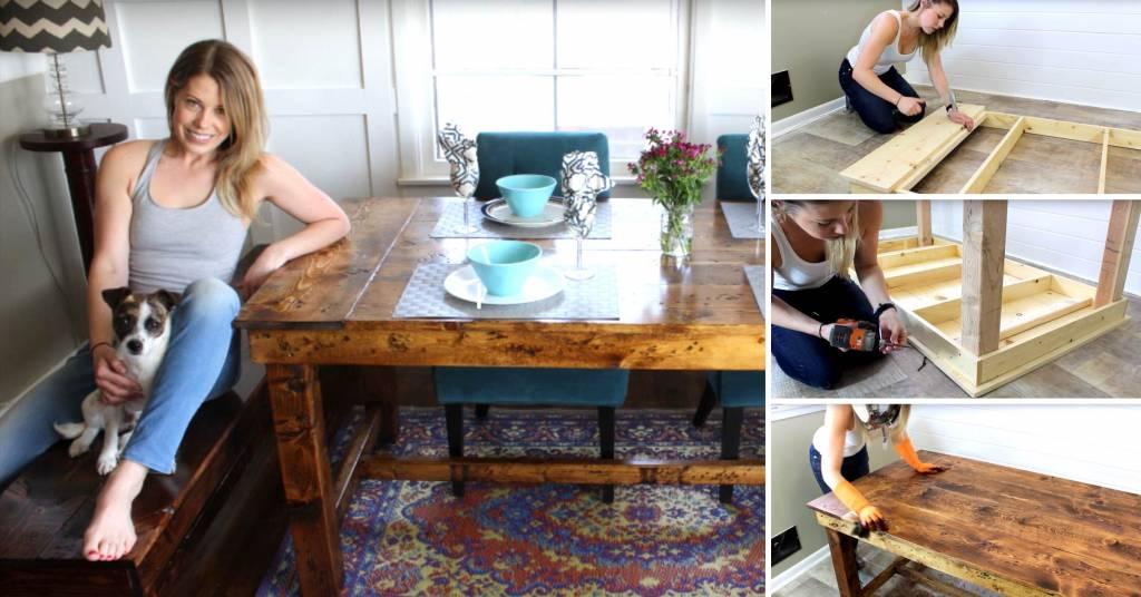 The 50 Farmhouse Table Easy Diy Project