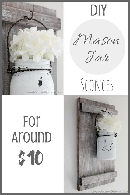 DIY Mason Jar Sconces