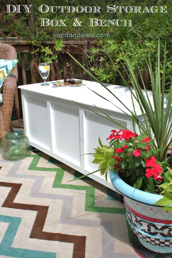 DIY Outdoor Storage Box and Bench