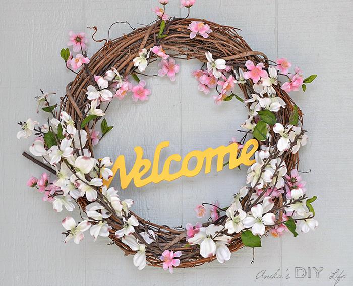 Easy 5 minute DIY Spring Wreath