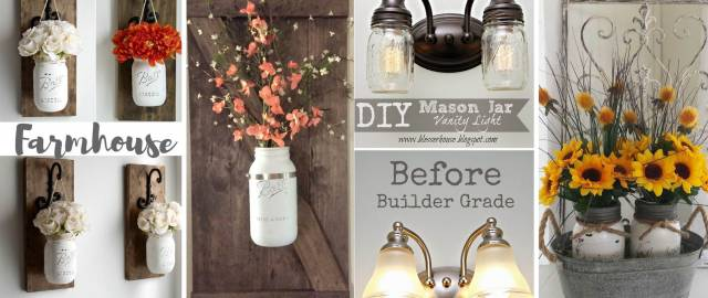 14 Farmhouse Mason Jar Decor Inspirations That Are No Less Than Fabulous!