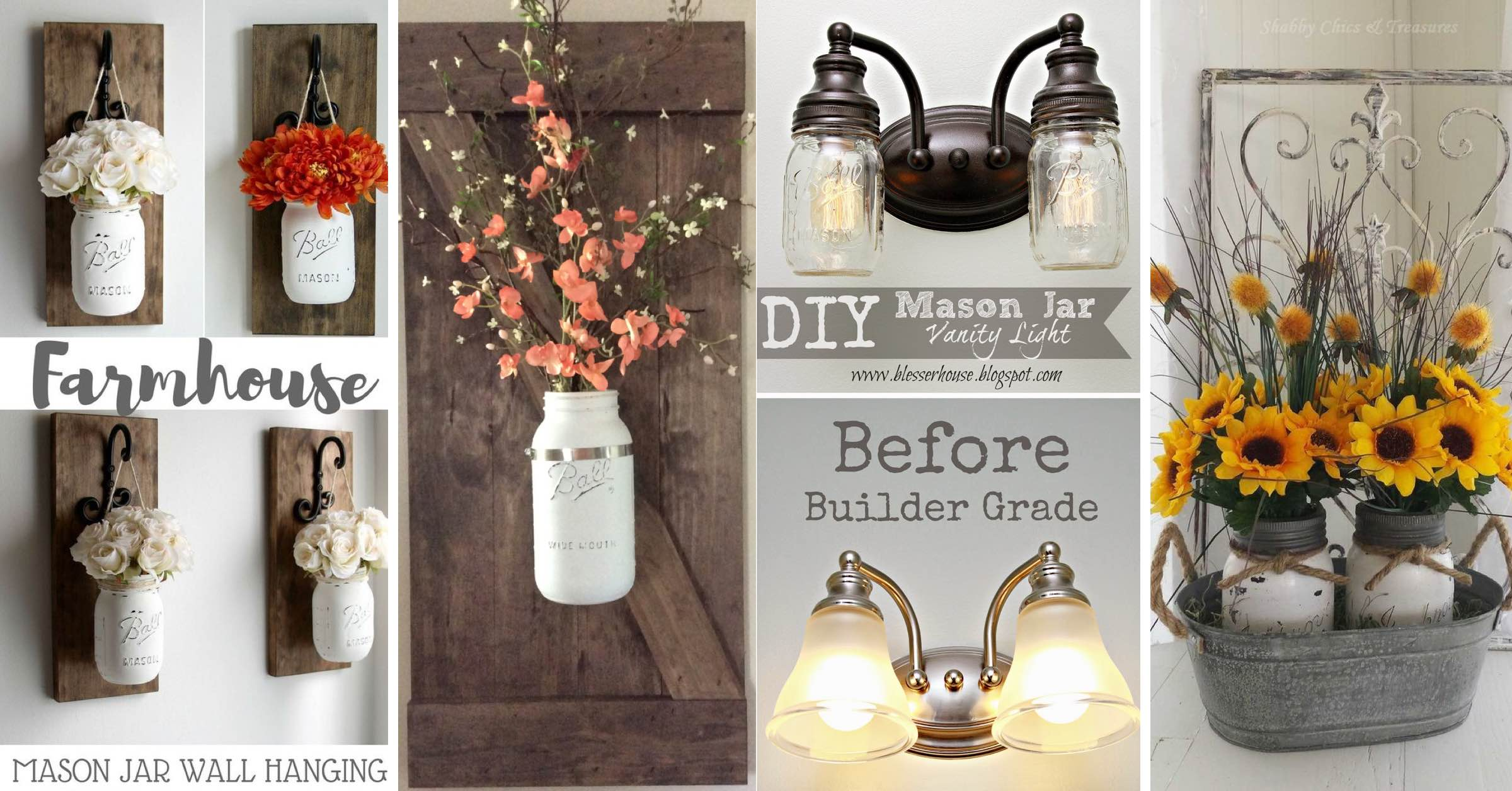 14 Farmhouse Mason Jar Decor Inspirations That Are No Less Than Fabulous