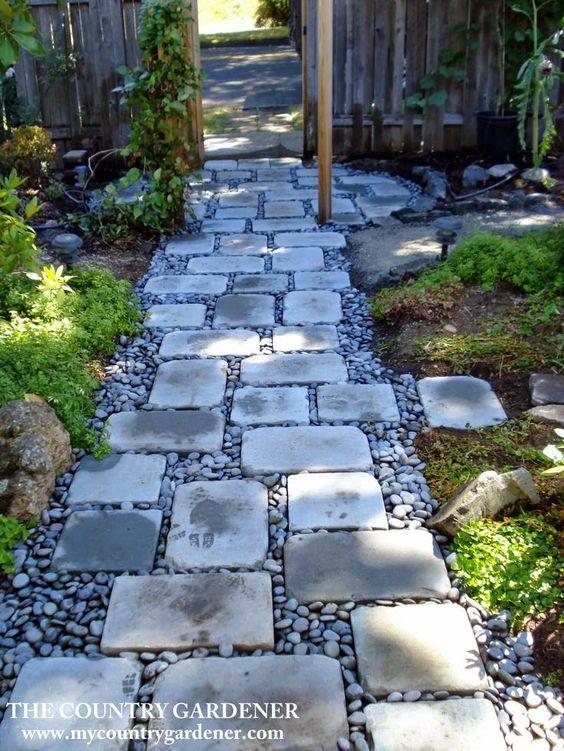 Flagstones and Pebbles Walkway
