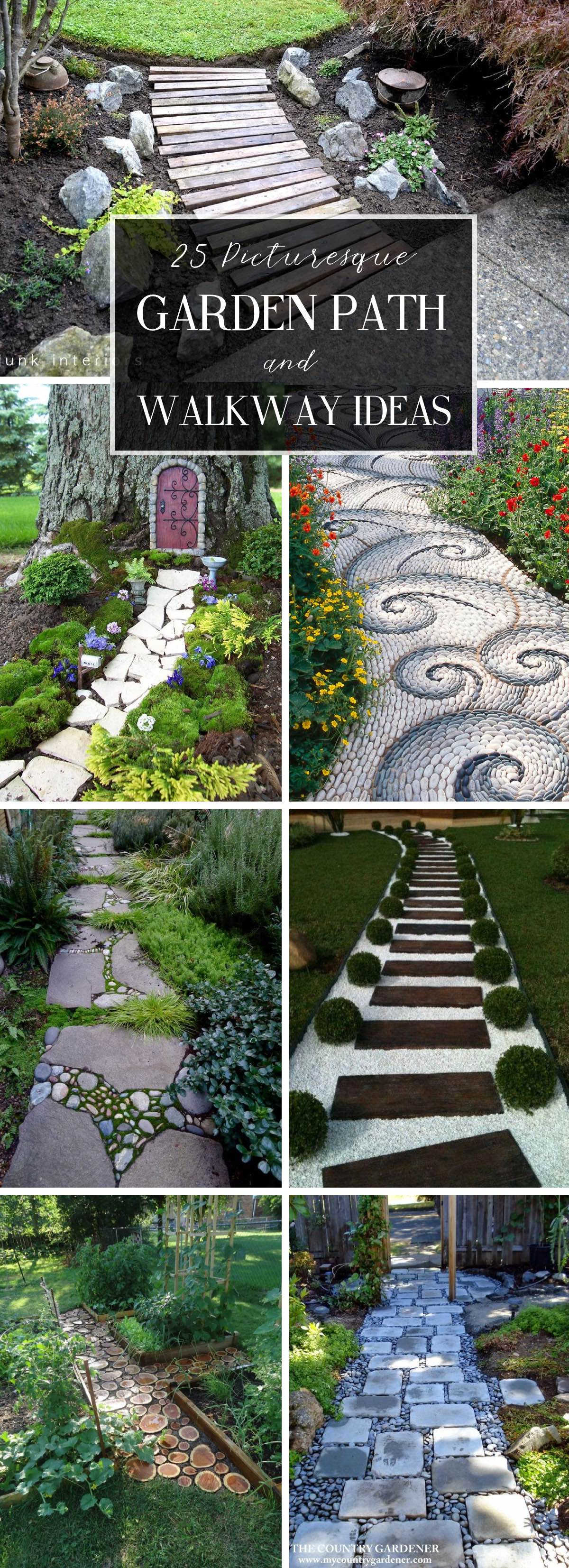 25 Picturesque Garden Path and Walkway Ideas