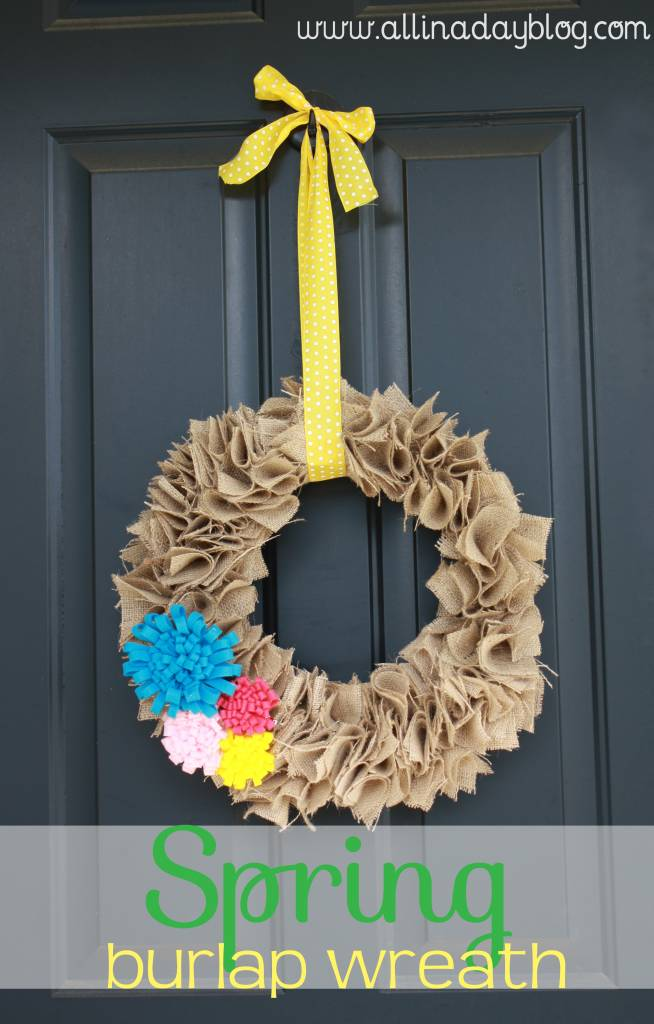 How to Make a Spring Burlap Wreath with Felt Flowers