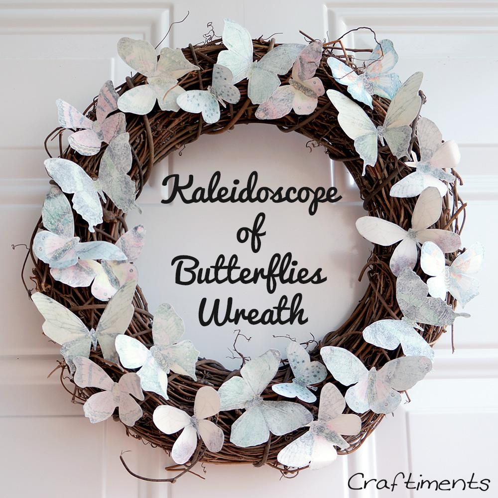 Kaleidoscope of Butterflies Wreath