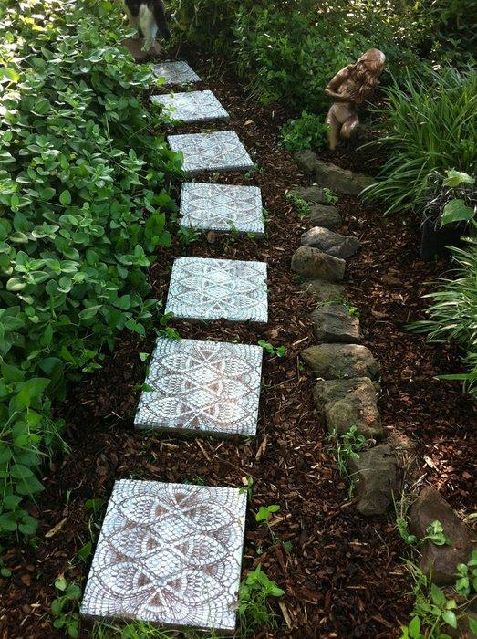Lace Patterned Garden Walkway