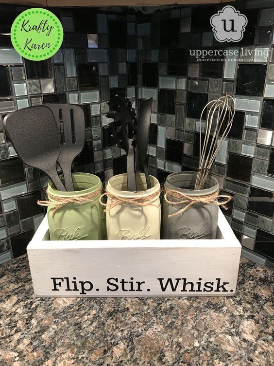 Mason Jar Kitchen Holders