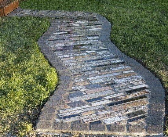 Recycled Countertop Granite Walkway