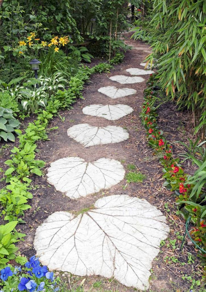 Rhubarb Patterned Pathway