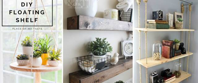18 Breathtakingly Beautiful DIY Shelves Integrating More Storage to your Home!