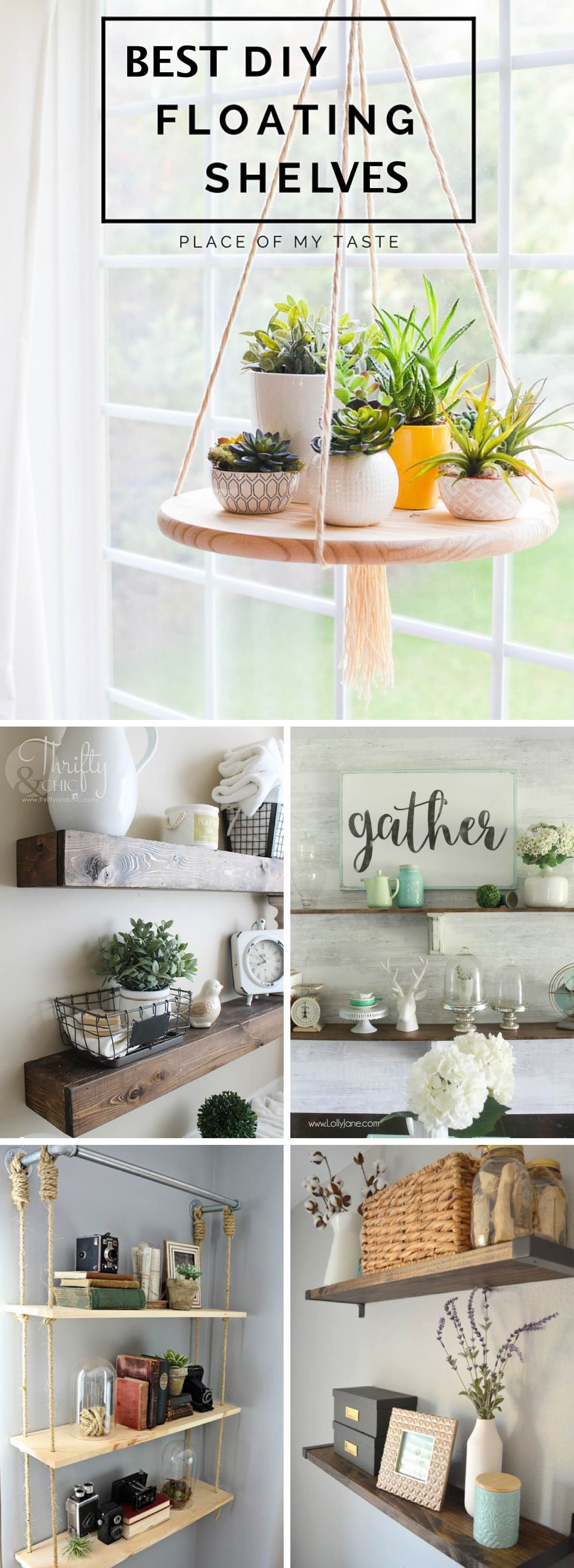 best diy shelves