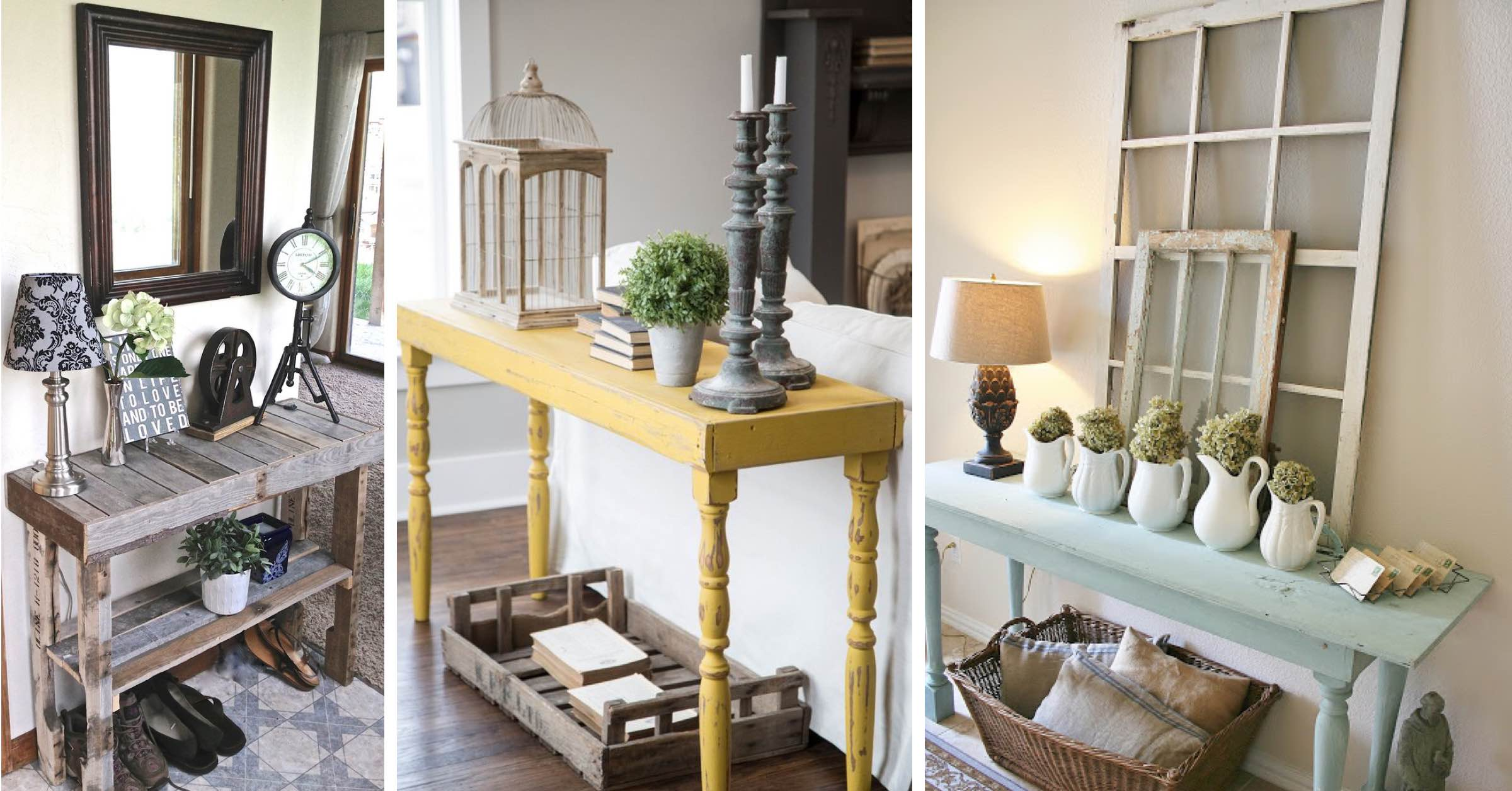 20 Beautifully Rustic Entry Table Ideas Blending Storage With Decor