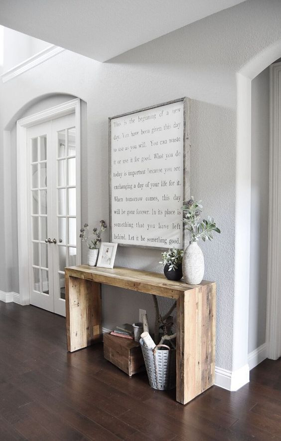 Console Table made from Barn Board