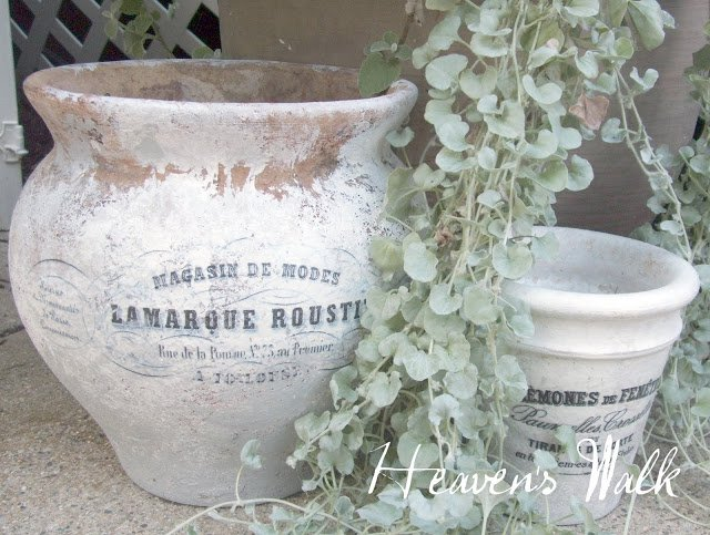 DIY French Flower Pots