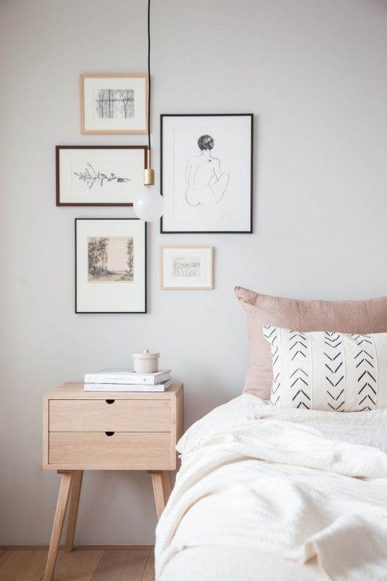 Dual-Toned Scandinavian Bedroom