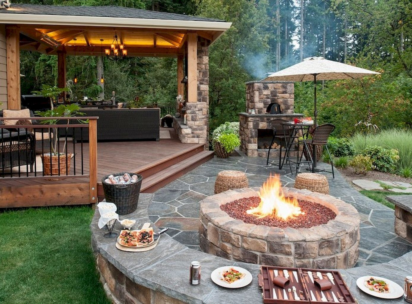 Firepit with Patio