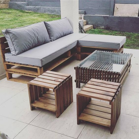 Four Seater Wooden Pallet Sofa