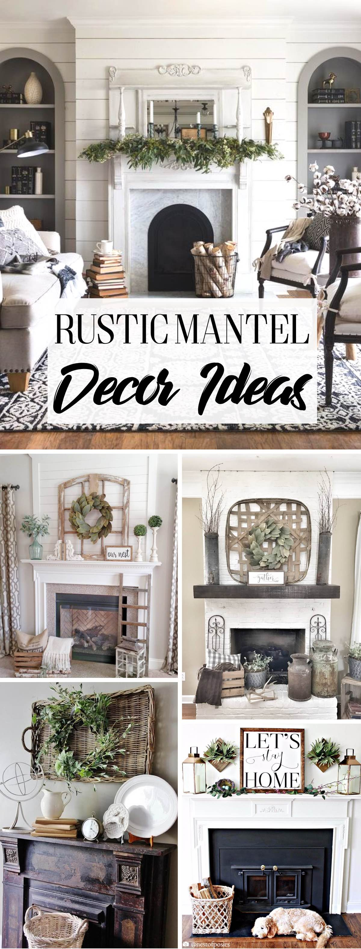 14 Glorious Rustic Mantel Decor Ideas Youll Fall Head Over