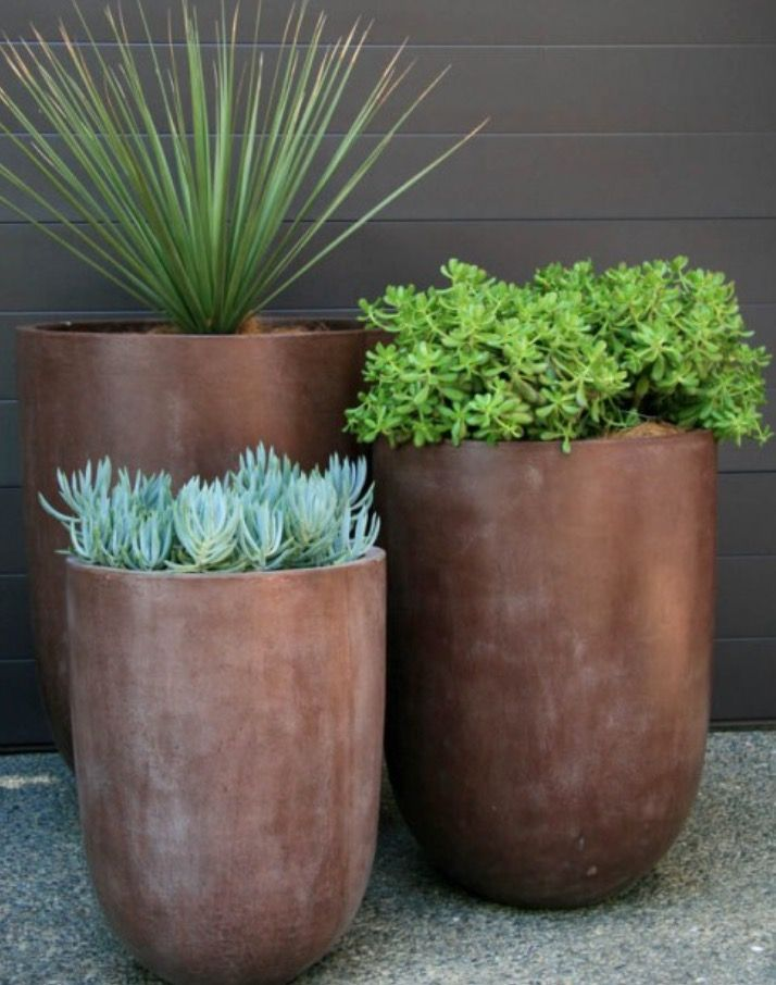 Metallic-Looking Planters
