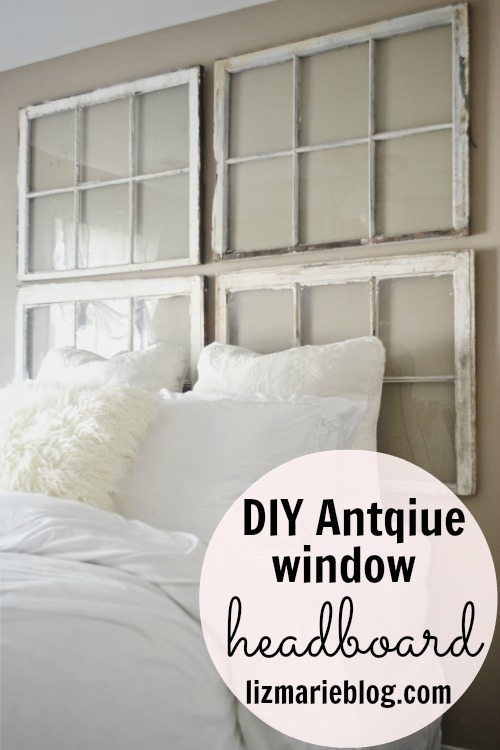 Must-Make Antique Window Headboard