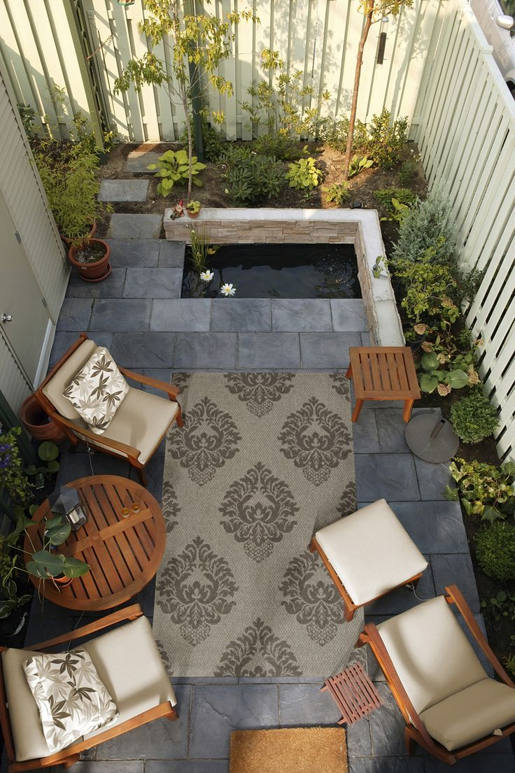 Outdoor Space Design with Pond