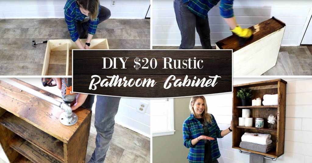 This DIY $20 Rustic Bathroom Cabinet Are Absolutely Magic