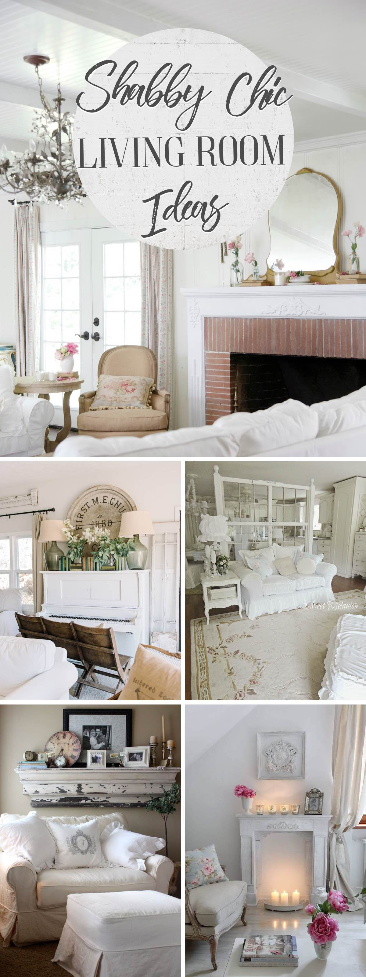19 Shabby Chic Living Room Ideas That Will Totally Melt Your ...