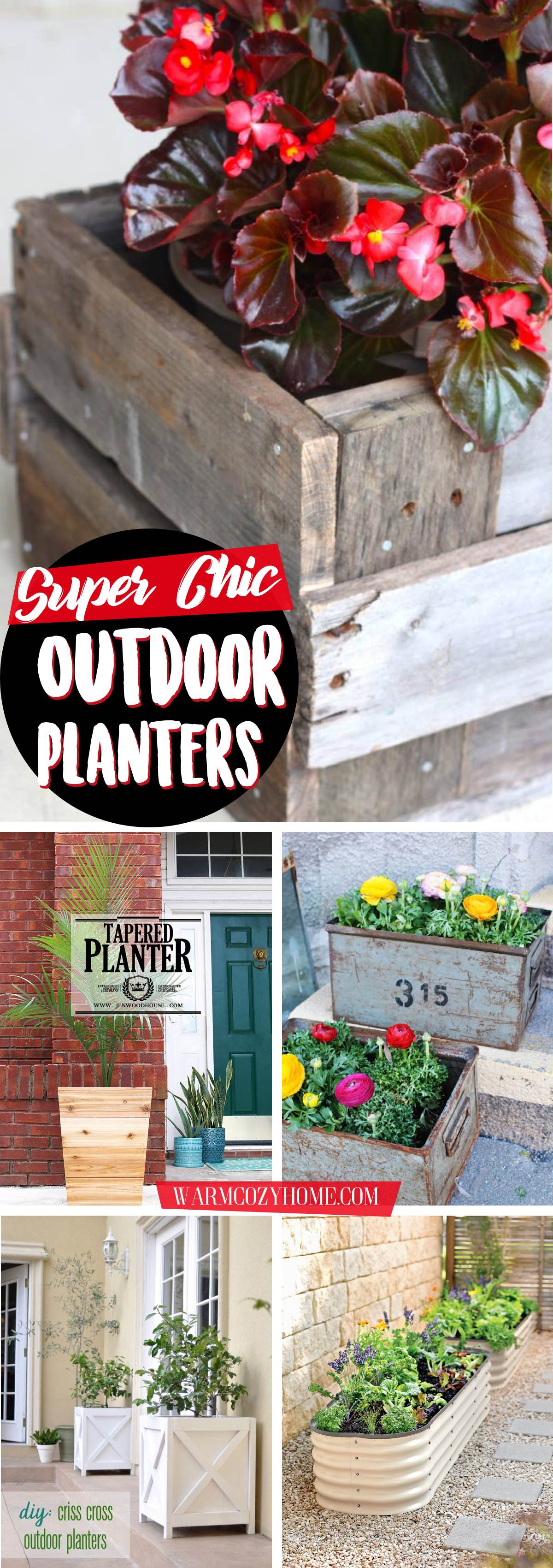 Super Chic Outdoor Planters