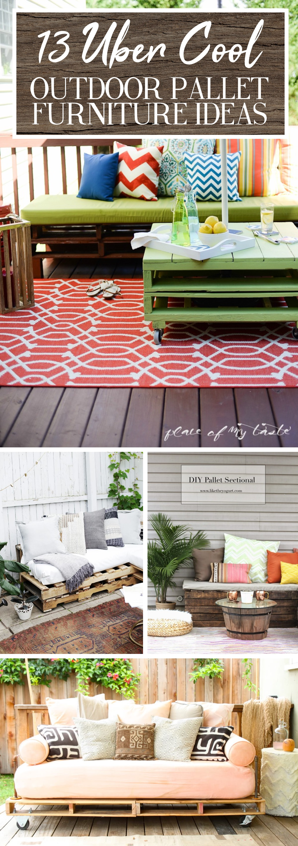Uber Cool Outdoor Pallet Furniture Ideas