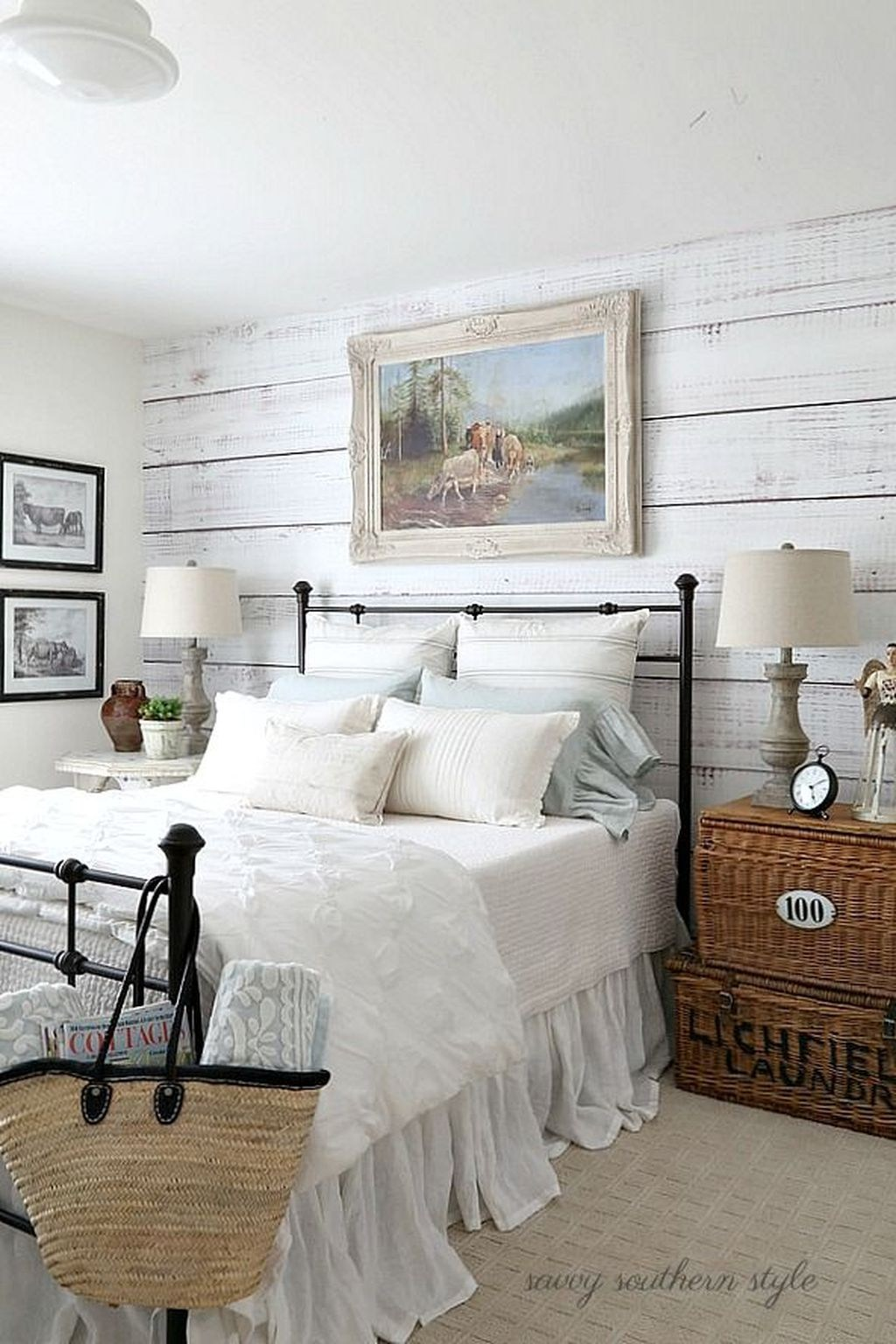 Black And White Modern Farmhouse Bedroom