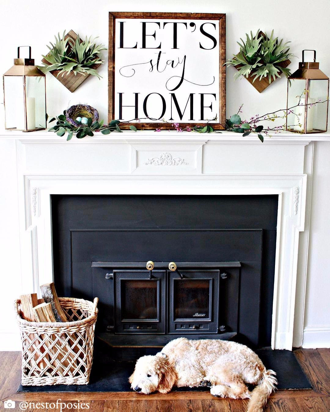 Wood Framed Signboard – Let's Stay Home