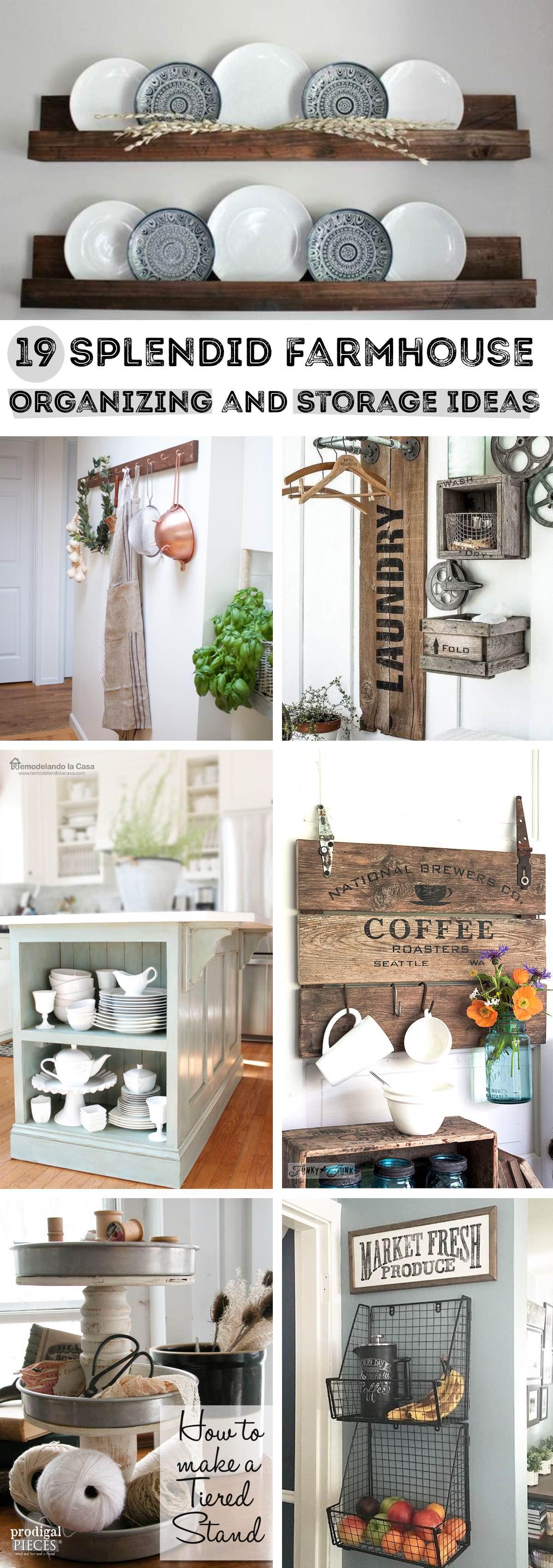 19 Splendid Farmhouse Organizing and Storage Ideas