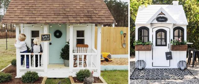 20 Adorable Outdoor Playhouse Ideas for Kids That Are No Less Than a Miniature Dreamland!