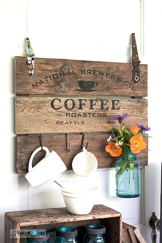 Coffee Crate Lid Sign