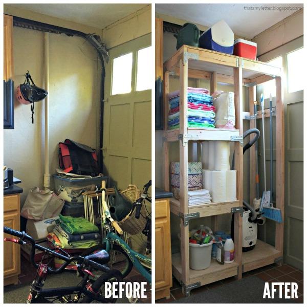 DIY Cleaning Storage Tower