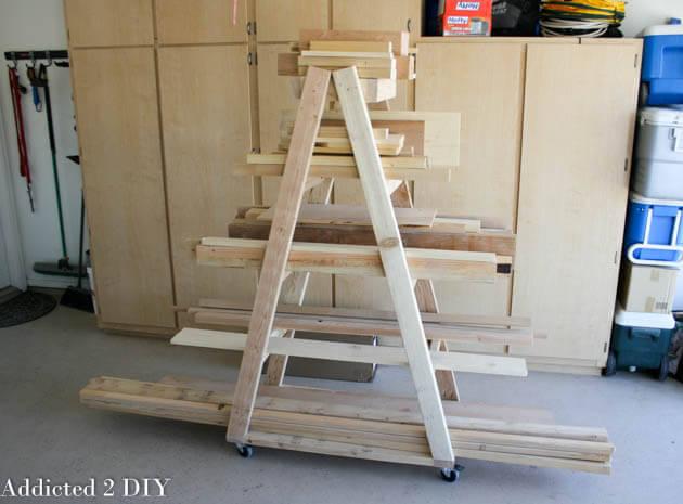 DIY Portable Lumber Rack Plans