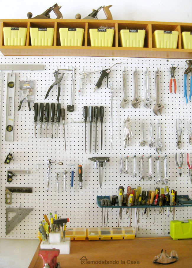 Garage Organization - How to Install a Pegboard