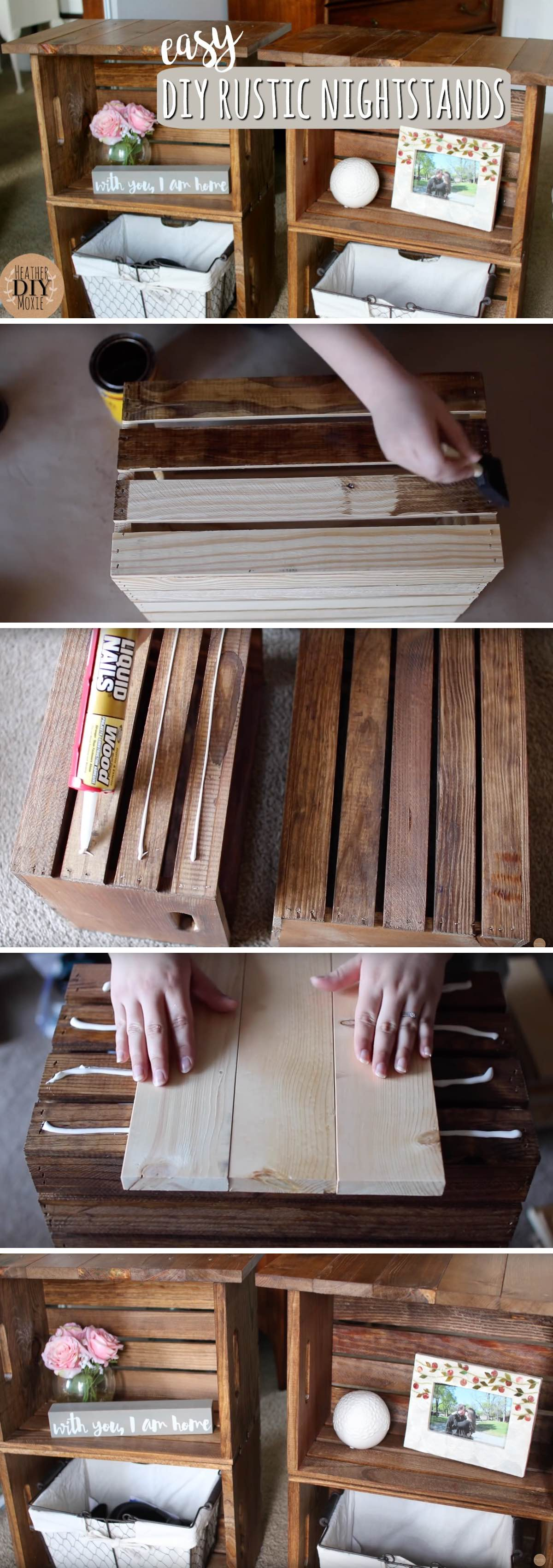 How To Build A Marvellous Diy Rustic Nightstands