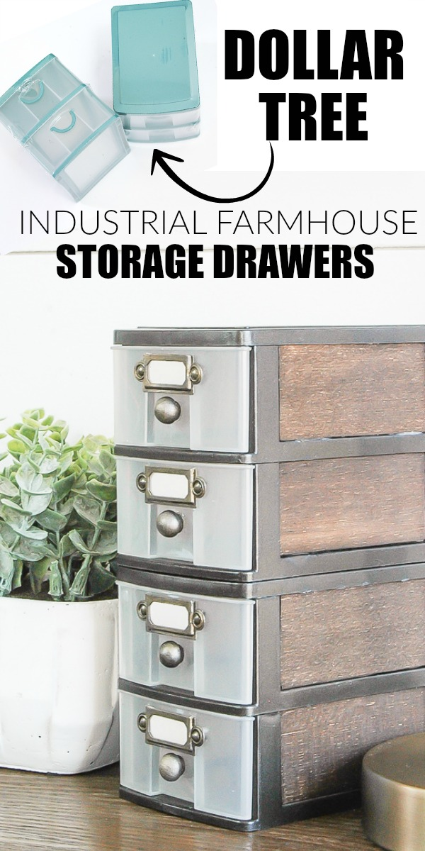 How to Get the Industrial Farmhouse Look with Dollar Tree Storage