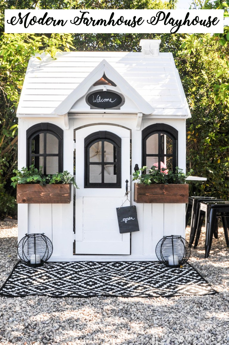 20 Adorable Outdoor Playhouse Ideas for Kids That Are No ... on Modern Farmhouse Backyard Ideas id=79834