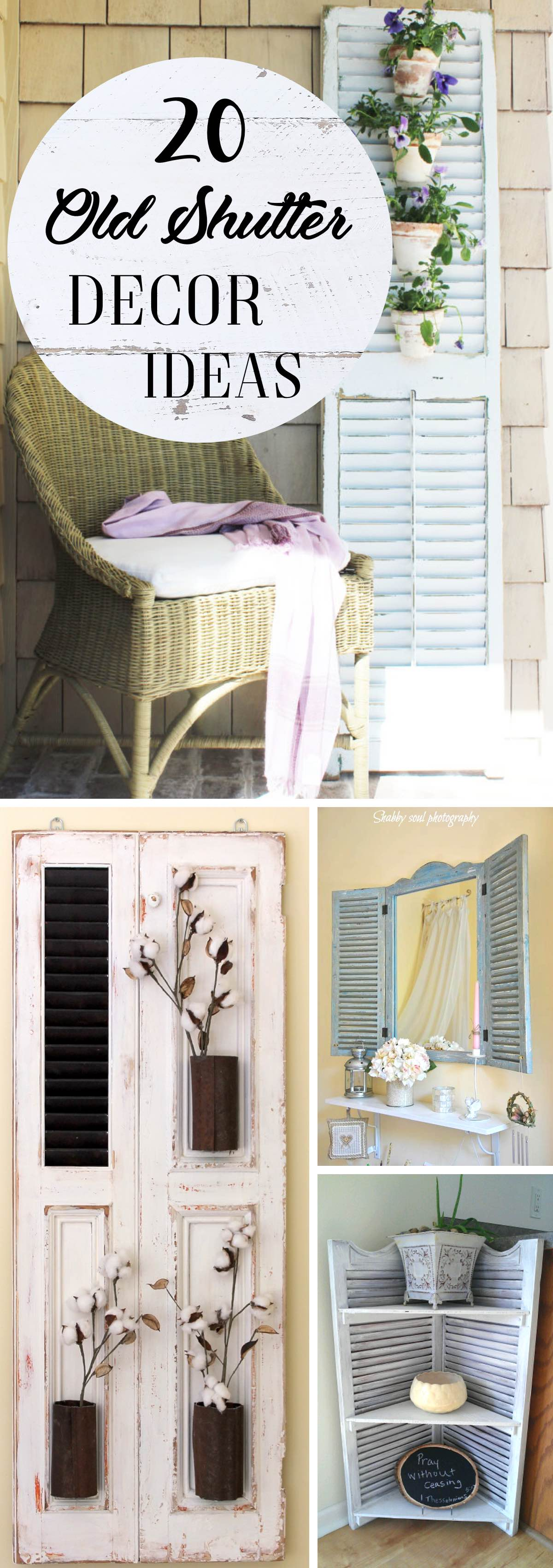 Get Inspired With These 20 Old Shutter Decor Ideas