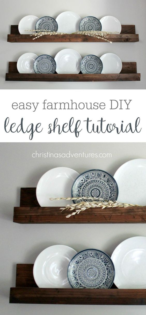Simple DIY Ledge Shelf Tutorial