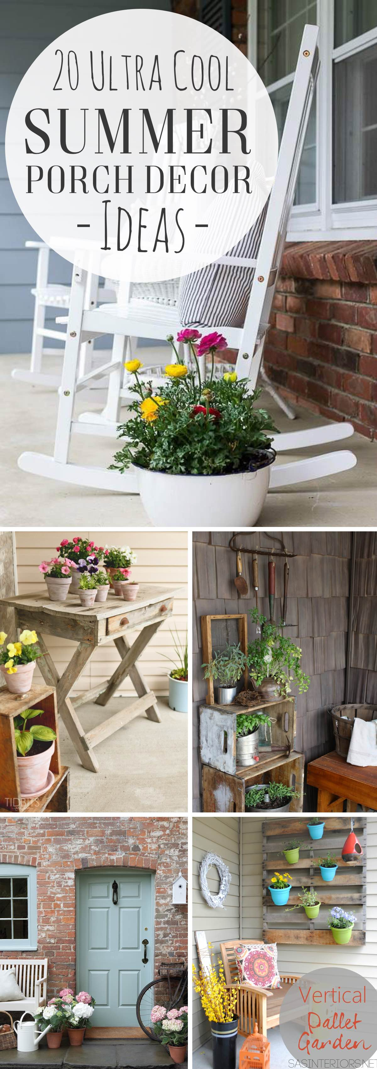 20 Ultra Cool and Refreshing Summer Porch Decor Ideas to Welcome the Season in Style