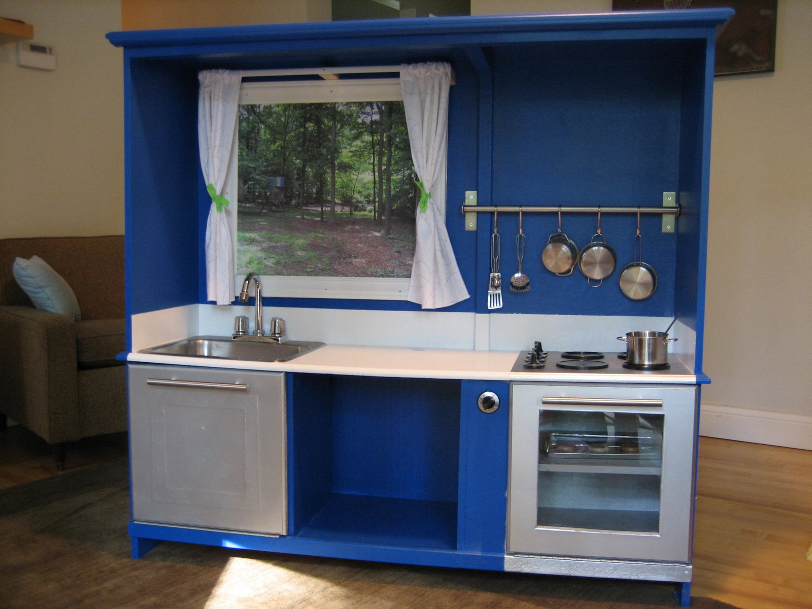 A Repurposed Play Kitchen