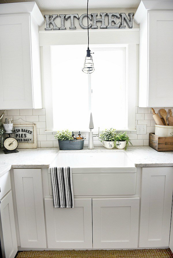 All White Fireclay Sink