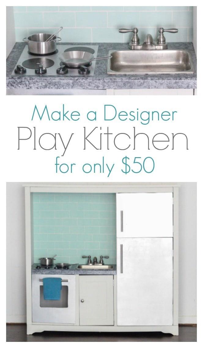 DIY Play Kitchen with Minimal Design